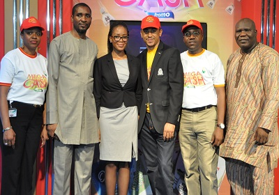 L-r: Mrs Wande Oluwasegunfunmi, head of Marketing, Nutricima Limited, Mr. Fidelis Ajibogun, assistant director/coordinator, Lagos Zonal Office of National Lottery Regulatory Commission, Gbemi Ajibose, assistant manager, Legal, Lagos State Lotteries, Ifedayo Olarinde, e-raffle draw presenter,  Category Marketing Manager (Standard Milk) and Prince Emmanuel Jeminiwa, director, Regulation & Monitoring, National Lottery Regulatory Commission, at the first e-raffle draw of Nutricima Mega Cash Consumer Promo held