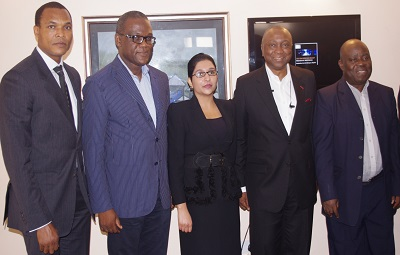l-r Chairman of Phone Dealers Association of Nigeria (PAPDAN), Mr Godfrey Iyke Nwosu (left); Secretary General of Computers and Allied Products Dealers Association of Nigeria (CAPDAN), Patrick Nwafor-Ezelue; Country Lead Nigeria, Smile Communications, Lee-Ann Cassie; CEO of Technovision, Tomi Davies and Chairman of Board of Trustees of CAPDAN, Ganiyu Alimi at the Technopreneurship Breakfast Meetings organised by Technology Times for business leaders in Ikeja Computer Village and held in Lagos