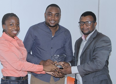 Representatives of Jumia.com receiving award on behalf of the firm from BJAN.