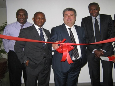 (L-r): Godfrey Unuka, public sector technology Sales Manager, Adebayo Sanni, Oracle Nigeria Country Manager, Gurhan Kalelioglu, vice president, Turkey, Central Asia and Africa and John Aisien, vice president, Product Management, Oracle Fusion Middleware at the Oracle office opening in Abuja.