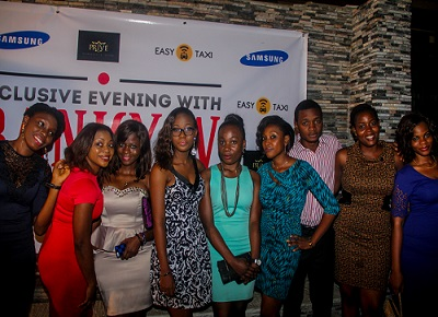 Guests at Easy Taxi and Samsung exclusive evening with Banky W held in Lagos recently