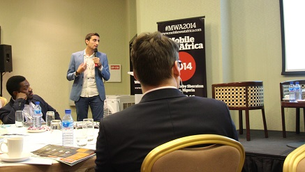 Massi Spalazzi, managing director of Kaymu, presenting a paper at Mobile Week West Africa held in Lagos