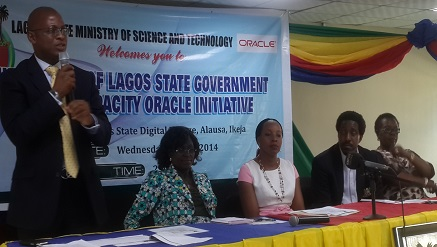 Picture: Mr Adebayo Sanni, country managing director of Oracle Nigeria addressed Lagos State Government officials and guests at the official launch of Lagos State Government Human Capacity Oracle Initiative