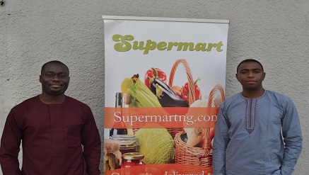 Gbolahan Fagbure and Raphael Afaedor, co-founders of Supermart