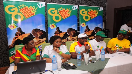 (L –r): Miss Efe Obiomah, Public Relations Manager GOtv, Mrs Elizabeth Amkpa, General Manager GOtv, Mr Dare Kafar, Marketing Manager GOtv, Mr Abdul Wahid Yusuf MultiChoice Super Dealer in Jos,  and Mr Ade Adenuga, MultiChoice Regional Sales Manager, during the launch of GOtv's digital migration campaign tagged, Digilevelz Don Land, held in Jos...recently