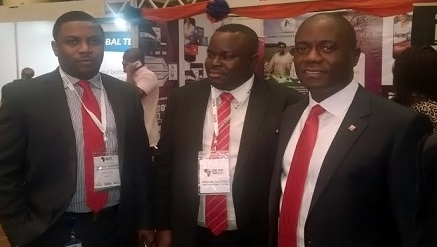 Valentine Obi, CEO, eTranzact (far right) and others at an event recently