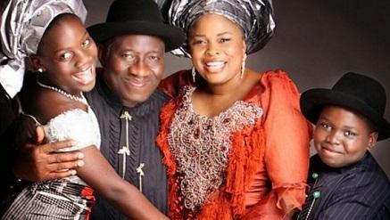 Goodluck Ebele Azikiwe Jonathan, President of Nigeria and family