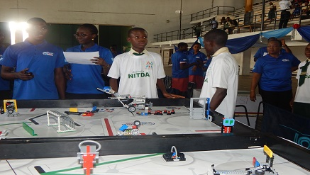 Some of the contestants and the judges during FLL in Lagos recently.