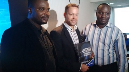 Christian Keller, managing director, Carmudi, Anglophone West Africa (middle) flanked by other staff, while unveiling the Whitepaper to the media in Lagos.