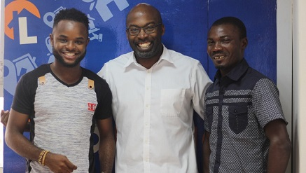 (L-r): Anunobi Valentine from Owerri, Imo State, MTN Best 11 Promo Winner, Obi Ejimofo, MD, Lamudi Nigeria and Kareem Waheed from Oshogbo, Osun State, also MTN Best 11 Promo Winner, immediately after the presentation at Lamudi office in Lagos.
