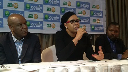 Smile Communications Nigeria officials at a recent event