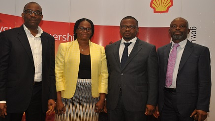 L-R: General Manager, Nigerian Content Development, Shell Nigeria, Chiedu Oba; Petroleum Technology Association of Nigeria (PETAN) Administrator, Jumoke Oyedun; Head of Nigerian Content Development, Shell Nigeria Exploration and Production Company of Nigeria, Austin Uzoka; PETAN Publicity Secretary Nik Odinuwe...at the just concluded Nigeria – UK Suppliers Engagement programme sponsored by SNEPCo and its Co-venturers.