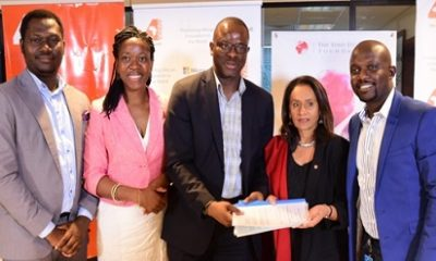 L-R - Philanthropy & CSR Lead MSFT Nigeria, Sola Amusan; Director, Group Marketing and Corporate Communications, Heirs Holdings, Pelumi Fadairo ; GM Microsoft Nigeria, Akin Banuso; CEO Tony Elumelu Foundation, Parminder Vir; Marketing and Operations Director Microsoft Nigeria, Ade Ajayi, during an MOU signing between the Tony Elumelu Foundation and Microsoft to provide complimentary access to Microsoft's business development software, Bizpark to 3,000 Tony Elumelu Entrepreneurs across 54 African Countries