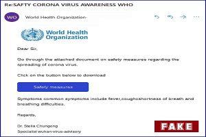 Sophos Identifies Coronavirus Scam email, Lists Measures to Avoid it