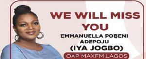 Iya Jogbo, Popular Radio Presenter Dies
